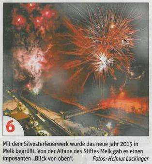 NöN Krems - Silvesterfeuerwerk am 31.12.2014 in Melk
